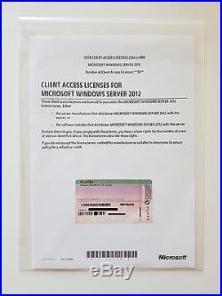 10 CAL USER (Benutzer) für Windows 2012 Server Standard (auch R2)