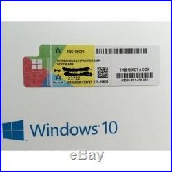 10 X GENUINE Windows 10 PRO KEY with Sticker 32 / 64 bit Licence 10 Bulk lot
