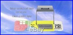 10 x Microsoft Windows 10 pro COA /OEM Sticker Siegel silver scratch