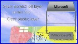 10x Licence Sticker Windows 10 Pro Professionnel 32-64 Bit Neuf
