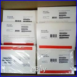 10x Microsoft Windows 10 PRO Professional Retail Package 64bit DVD + Product Key