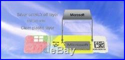 10x Microsoft Windows 10 pro 32/ 64 Bit COA /OEM Key Sticker