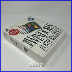 1994 Microsoft Windows For Workgroups 3.11 Retail Sealed New Old Stock