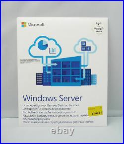 1 User / Benutzer RDS / Remote Desktop CAL für MS Windows Server 2016 Terminal
