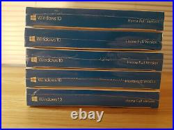 5X Microsoft Windows 10 Home English 32/64Bit USB 3.0 Full Retail Bundle Job Lot