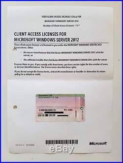 5 CAL USER (Benutzer) für Windows 2012 Server Standard (auch R2)