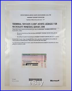 5er CAL DEVICE (Geräte) für Windows 2008 Terminal Server/ RDS Remote Desktop