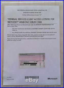 5er CAL USER (Benutzer) für Windows 2008 Terminal Server/ RDS Remote Desktop NEU