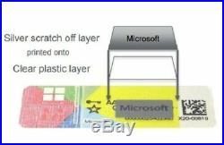 5x Licence Sticker Windows 10 Pro Professionnel 32-64 Bit Neuf