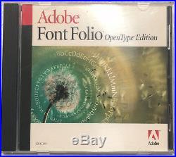 Adobe Font Folio OpenType Edition Mac Windows
