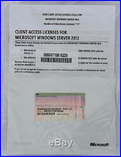 BRAND NEW Windows Server 2012 5 User CAL HP 701915-A21 NEXT DAY COURIER