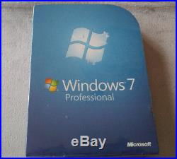 Brand New Microsoft Windows 7 Professional fqc-00129 retail box 100% Genuine