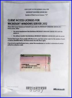 Brand New & Sealed Windows Dell 2012 Server 5 User Cals Standard 100% Genuine Uk