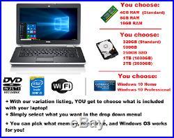 DELL LATITUDE E6420 LAPTOP WINDOWS 10 WIN DVD+RW INTEL i5 2.5GHz 16GB SSD HDMI