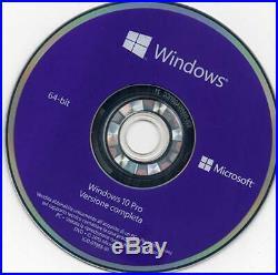 DVD Originale Windows 10 Pro 64 Bit Professional Ita Versione Completa Nuovo