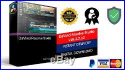 Davinci resolve Studio 16 pour windows 32/64 Bit lastest Version fast delivery