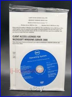 Dell Microsoft Windows Server 2008 R2 Standard 64 Bit 1-4 CPU NEW