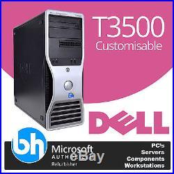 Dell T3500 Precision Intel Xeon Quad/Six Core Tower PC Customisable Windows 10