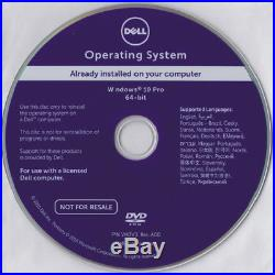 Dell Windows 10 Pro 64bit OS Restore Reinstallation DVD disk. Immediate dispatch