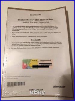 HPE MS Windows Server 2016 Standard Edition license ROK 16 cores # P00487-B21