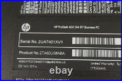 HP ProDesk 400 G4 SFF Pentium G4400 3.3GHz 8GB DDR4 RAM 0-128GB SSD Windows 10