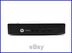 HP ProDesk 600 G1 Mini DC i3-4160T 3.1GHz 4GB RAM 0-500GB HDD WiFi Windows 10