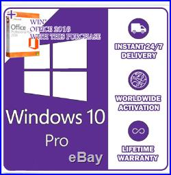Instant Windows 10 Professional Pro 32 & 64 Bit License Key Instant Delivery