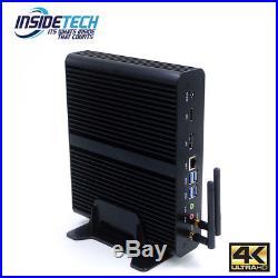 Intel 7th Gen i7 Fanless Desktop PC Windows 10 Pro WiFi Mini PC 2 yr warranty