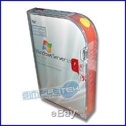 LICENZA BOX 5x CLT WINDOWS SERVER 2008 STD NUOVA, DVD PACCHETTO RETAIL SIGILLATO