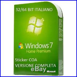 LICENZA MICROSOFT WINDOWS 7 Home Premium 32/64 BIT COA STICKER