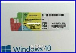Licence sticker windows 10 pro professionnel 32&64bit neuf