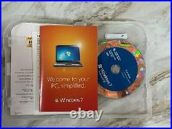 Lot of 7 Microsoft Windows 7 Professional full 32 and 64bit dvds with Product Key