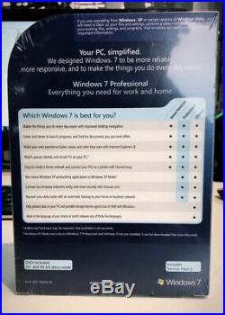 MICROSOFT WINDOWS 7 PROFESSIONAL (Brand New Sealed) 32/64-BIT DVD FQC-00133