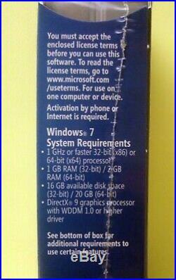 MICROSOFT WINDOWS 7 PROFESSIONAL- UK Sealed Commercial Retail Box (FQC-00133)