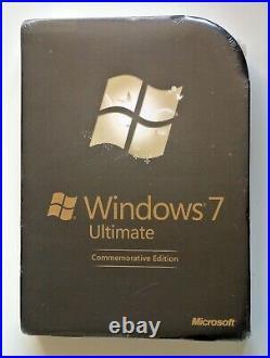 MICROSOFT WINDOWS 7 ULTIMATE COMMEMORATIVE EDITION Very Rare Collectors item