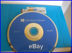 MICROSOFT WINDOWS SERVER 2012 r2 OEM DATACENTER (2 CPU) COA / DISK / OPENED