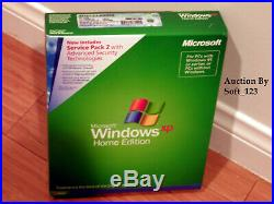 MICROSOFT WINDOWS XP HOME withSP2 FULL OPERATING SYSTEM OS MS WIN =RETAIL BOX=