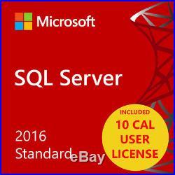 MSFT SQL Server 2016 Standard Edition