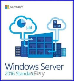 MSFT Window Server 2016 Standard Edition x64 64 bit 16 cores 2CPU with25 CAL