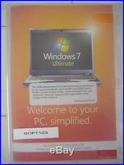 MS Microsoft Windows 7 Ultimate 64 bit x64 withSP1 DVD Full MS WIN =BRAND NEW=