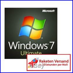 MS Microsoft Windows 7 Ultimate Vollversion Original Business WIN 7