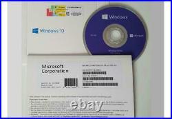 MS WINDOWS 10 PRO PROFESSIONAL 64Bit DVD DISK & ACTIVATION LICENSE KEY PACK