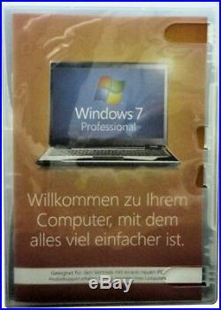 MS Windows 7 ProfessionalVollversion(SB)64bitBOX/LCPHologrammDVDKeyDEUTSCH