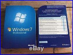 MS Windows 7 Professional Deutsch, BOX 32 und 64 bit DVD mit MwSt Rechnung