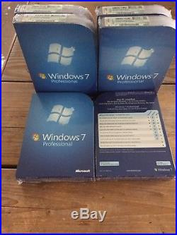 MS Windows 7 Professional SP1, BOX 32 und 64 bit DVD mit MwSt Rechnung