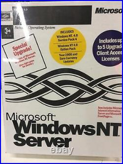 MS Windows NT Server 4.0 Upgrade New In Factory Sealed Box New Old Stock