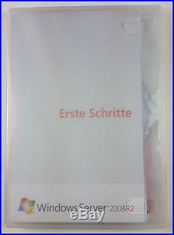 MS Windows Server 2008 Standard Std R2 64 Bit DVD Deutsch 1-4 CPU P73-04839