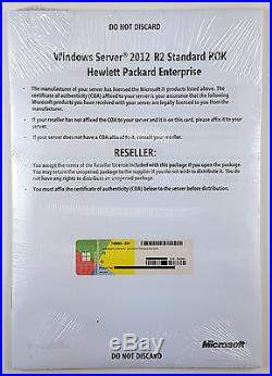 MS Windows Server 2012 R2 Standard 64 Bit DVD HP ROK Multilingual Deutsch