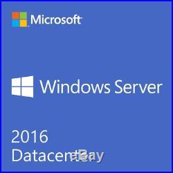 MS Windows Server 2016 Datacenter 16 CORE license with5 CAL CERT & ORIGINAL USB