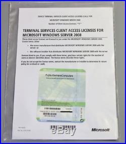 Microsoft 5 Windows Server 2008/2008 R2 Terminal RDS -Device -MUI -TJA-00142